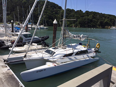 Trimaran for Sale Telstar 28   in Alameda California (CA)  TRY BABY TRI  Preowned Sail