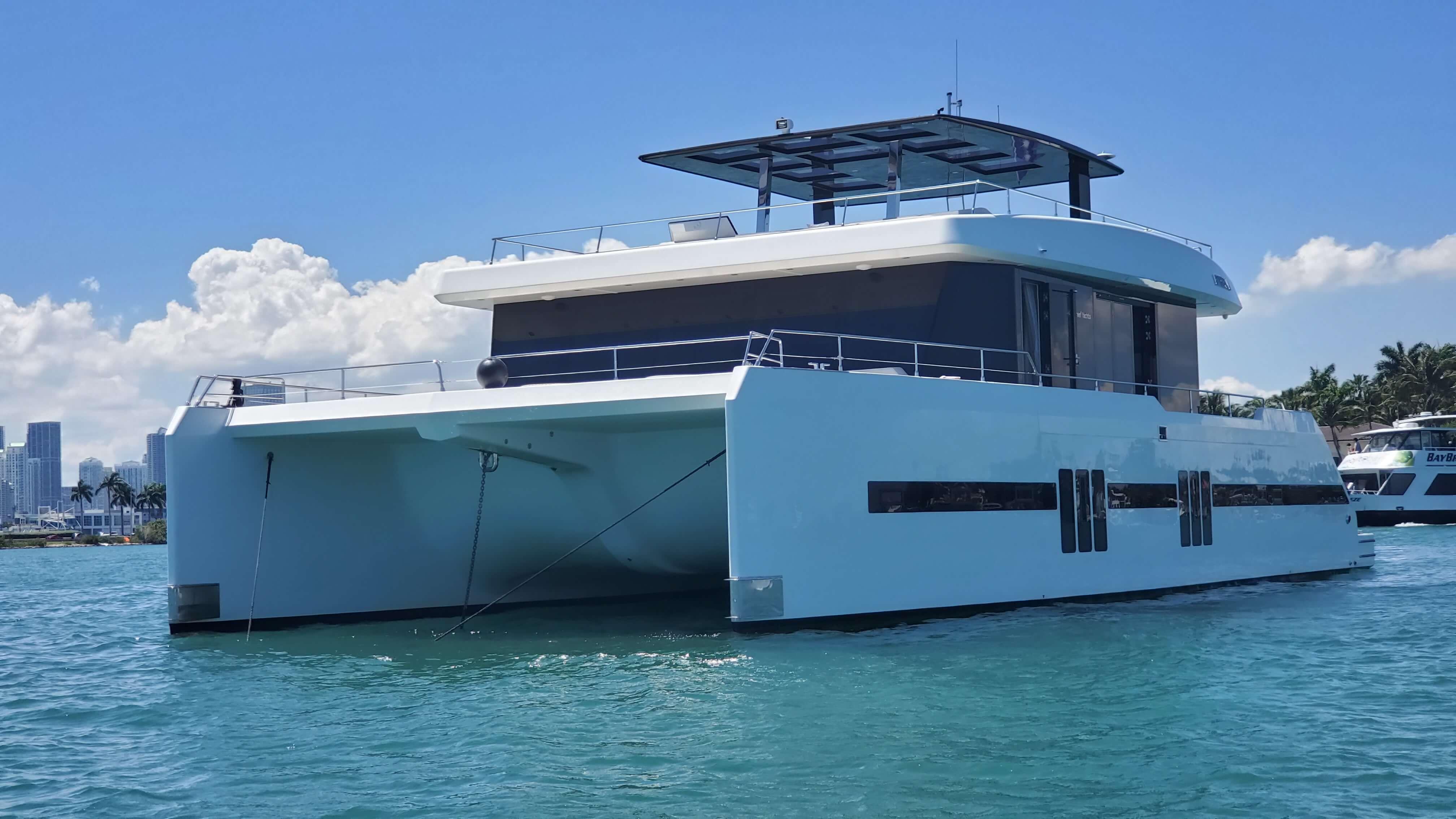 Catamaran, used or new, power or sail, and trimaran multihulls, for